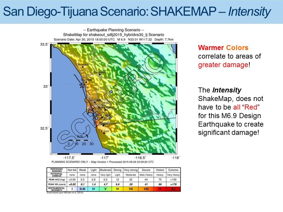 San Diego-Tijuana Earthquake Scenario Shakemap